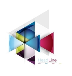 3d geometric abstract background vector image