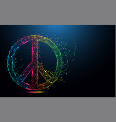 abstract peace symbol form lines and triangles vector image
