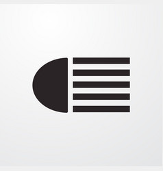Auto high beam light sign icon flat design vector