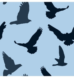 birds background seamless pattern vector image
