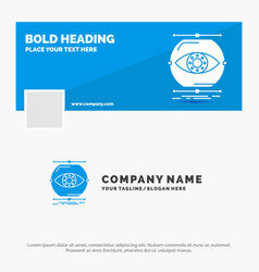 Blue business logo template for visualize vector