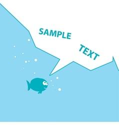Blue cartoon fish vector