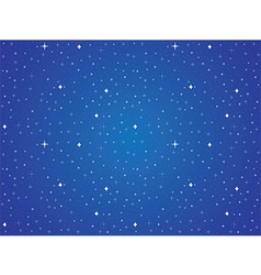 Blue sky with stars background vector