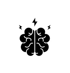 brainstorm black icon sign on isolated vector image