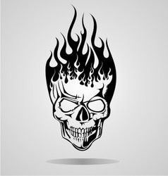 Burning Skull Tribal vector image