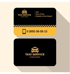 Business card taxi driver flat modern trendy vector
