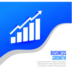 business growth concept presentation background vector image