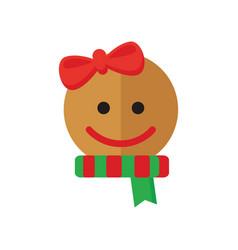 Christmas girly cookies vector