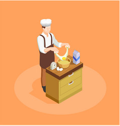 confectionery and bakery chef vector image