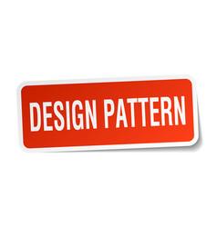 Design pattern square sticker on white vector