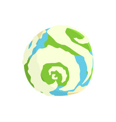 earth planet cartoon vector image