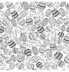 easter white and black seamless vector image