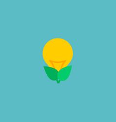 eco energy icon flat element vector image