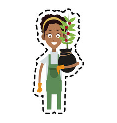 farmer cartoon icon imag vector image