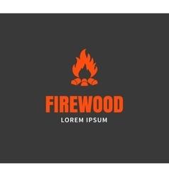 Firewood emblem template vector