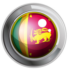 Flag of srilanka on round badge vector