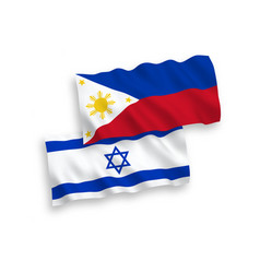 Flags philippines and israel on a white vector