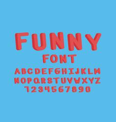 funny font alphabet vector image