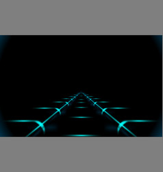Glowing road into virtual reality or cyberspace vector