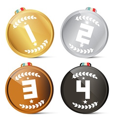 Gold Silver Bronze and Black - First Second Third vector image