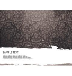 grunge damask background vector image