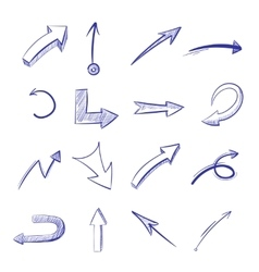 hand drawn curved arrows vector image