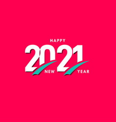 Happy new years 2021 celebration template design vector