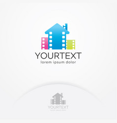 home cinema logo design vector image