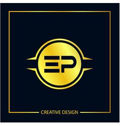 Initial ep letter logo template design vector