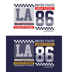 la california sport t-shirt graphics vector image