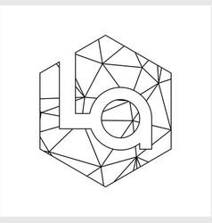 la geometric triangle block chain font vector image
