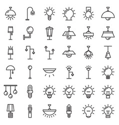Lamp-outline vector