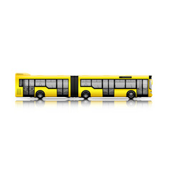 Long city bus vector