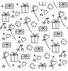 Love symbols seamless pattern happy valentine s vector