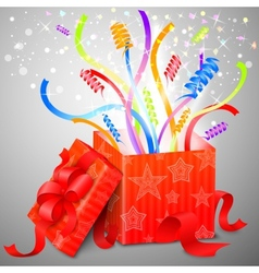 Magic surprise box vector image