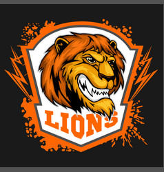 Mascot lions - sport team logo template lion head vector