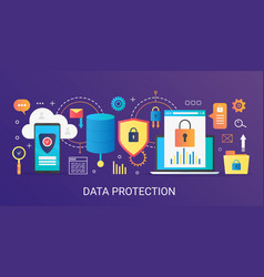 modern flat gradient data protection vector image