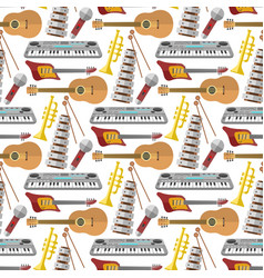 music production seamless pattern background vector image