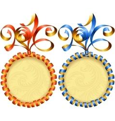 new year 2016 circle frame set vector image