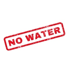 No Water Rubber Stamp vector image