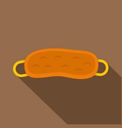 orange sleeping mask icon flat style vector image