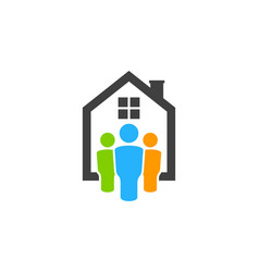 people real estate logo icon design vector image
