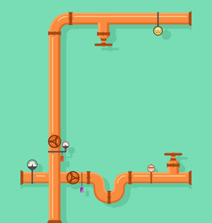 Pipeline construction background with place vector