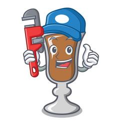 Plumber irish coffee mascot cartoon vector