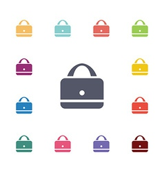 purse flat icons set vector image