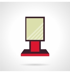 Red city-light flat icon vector