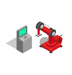 Remote controller and red machine poster vector