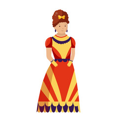 renaissance clothing woman character in vector image