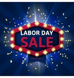 Retro banner for labor day sale vector image