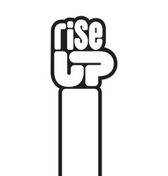 Rise up raised fist protest design vector